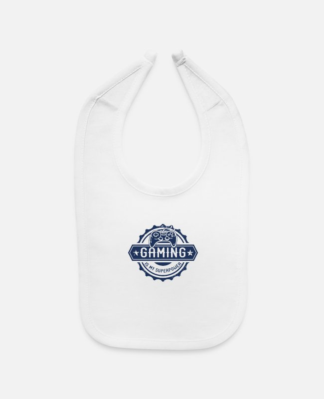 Pro Gamer Baby Bibs - E-Sports Gaming Computer Game Pro-Gamer PC Gamer - Baby Bib white