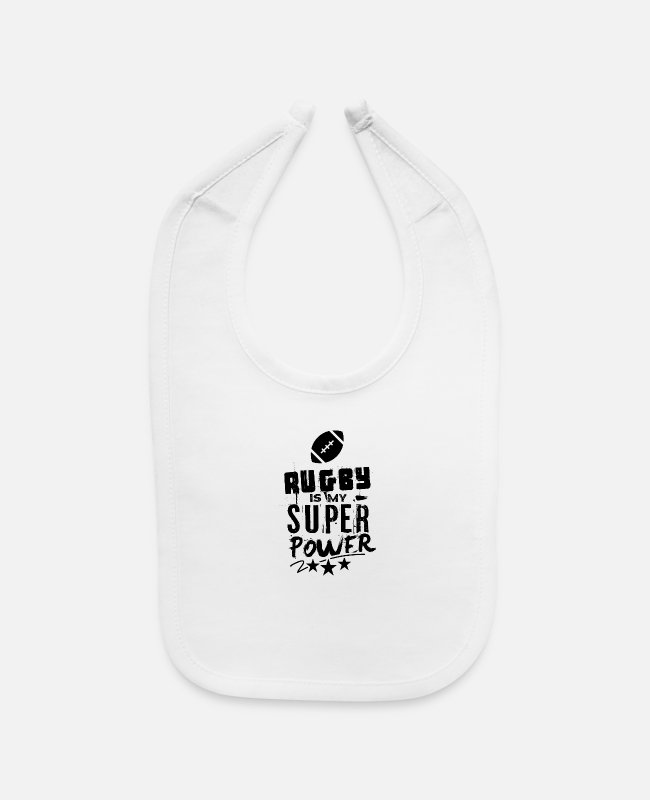 Rugby Game Baby Bibs - Rugby Game Rugby Rugby Player Match Team - Baby Bib white