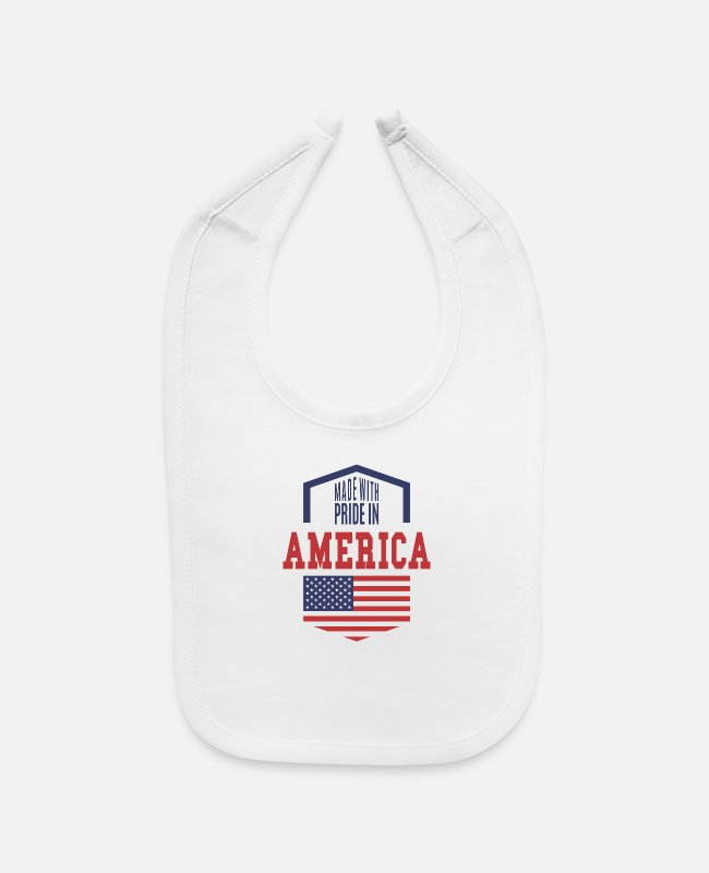 Pride Baby Bibs - MADE WHIT PRIDE IN AMERICA - Baby Bib white
