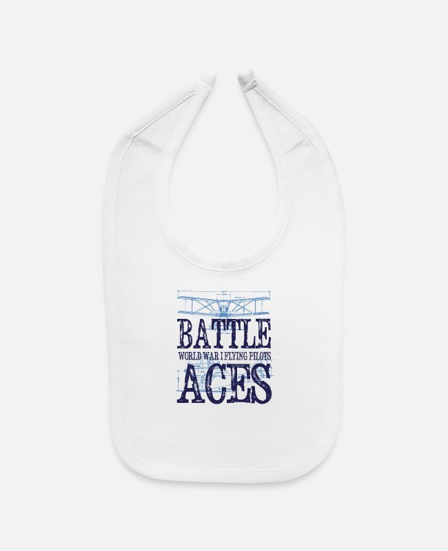 Gun Baby Bibs - Battle Aces - Baby Bib white