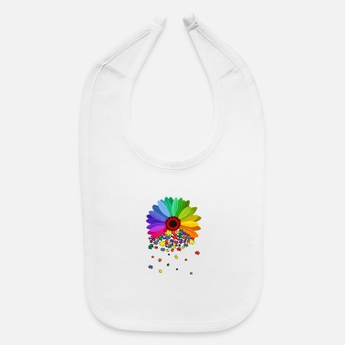 floral autism awareness daisy flower mom women - Baby Bib