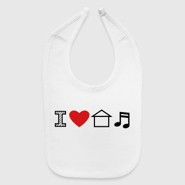 I Love House Music - Baby Bib