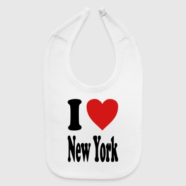 I love New York (variable colors!) - Baby Bib