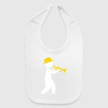 A Jazz Musician Plays The Trumpet - Baby Bib