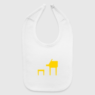 A Jazz Musician Plays On The Piano - Baby Bib