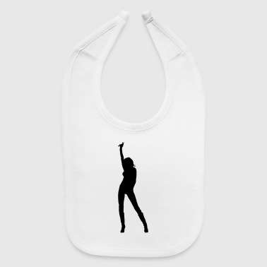 Singer and Dancer Silhouette vector design - Baby Bib