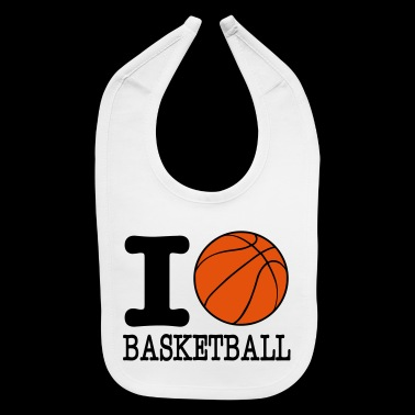 i love basketball - basketball shirt - b ball - Baby Bib