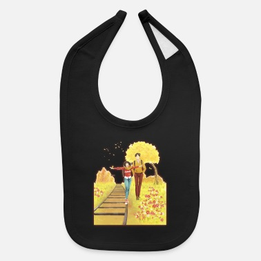 Couples a couple in autumn - Baby Bib