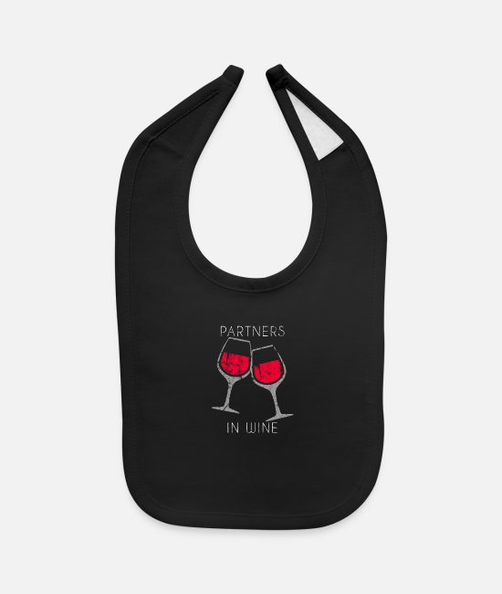 Wine Baby Bibs - Alcohol liquor gift idea - Baby Bib black
