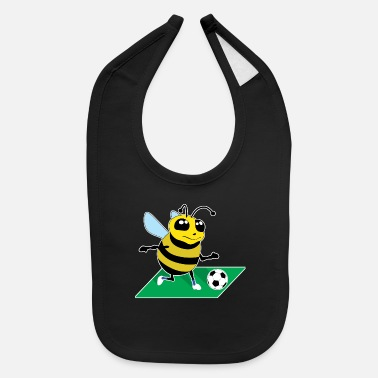 Cute Bee Maja Insect Soccer Football Insect Gift - Baby Bib