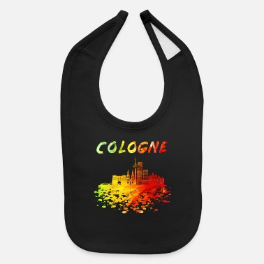 Kölsch Cologne Skyline / Cathedral City Kölsch Helau - Baby Bib