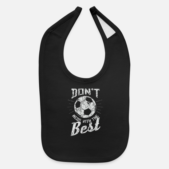 Soccer Baby Clothing - Sayings Soccer - Baby Bib black