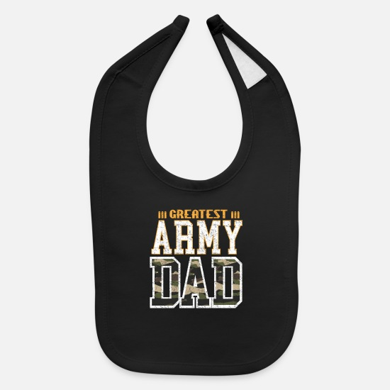 America Baby Clothing - Father army gift - Baby Bib black