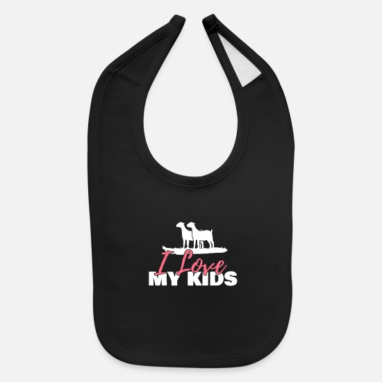 Farmers Baby Clothing - Goat Farmer My Kids Goat Whisperer Lovers Gift - Baby Bib black