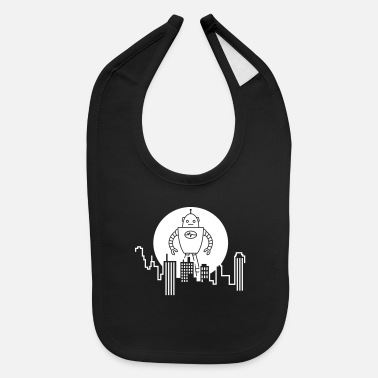 City Skyline Robot - Baby Bib