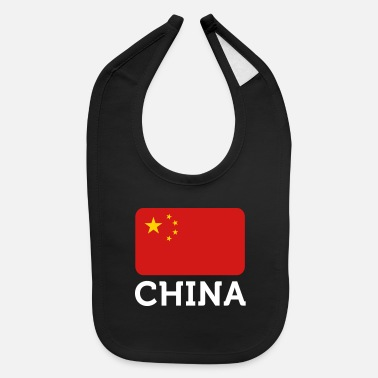 China National Flag Of China - Baby Bib