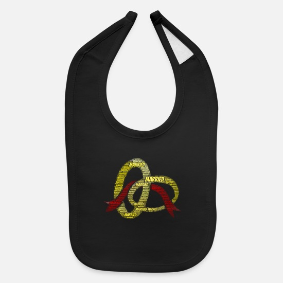 Birthday Baby Clothing - Married | Presents - Baby Bib black