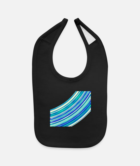 Design Baby Bibs - Summer Breeze - Baby Bib black
