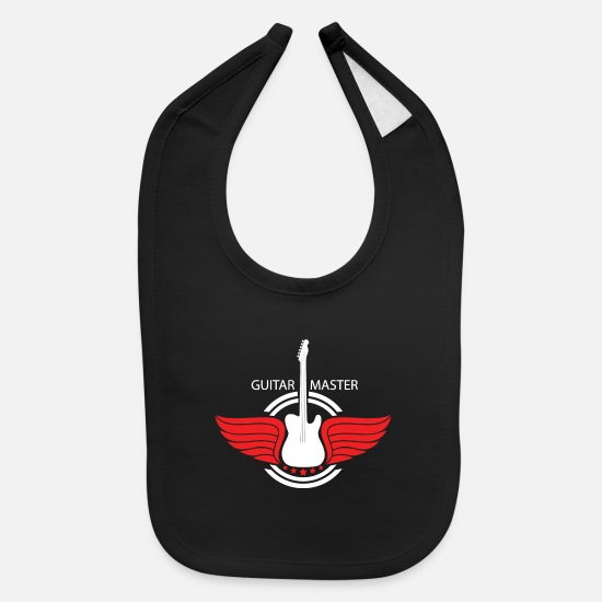 Guitar Baby Clothing - Guitar Master - Baby Bib black