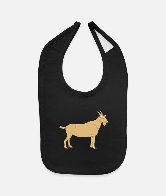 Brown Baby Bibs - goat - Baby Bib black