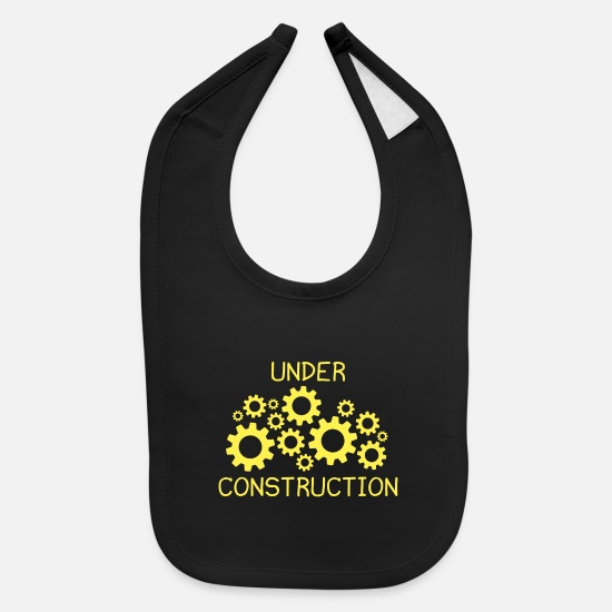 Under Baby Clothing - Under Construction - Baby Bib black