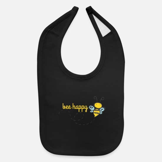 Bee Baby Clothing - Bee Happy Bumble Bee - Baby Bib black