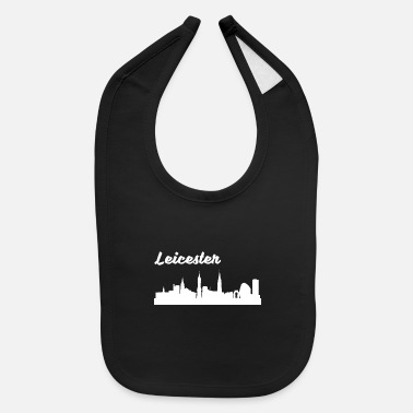 Leicester Leicester Skyline - Baby Bib