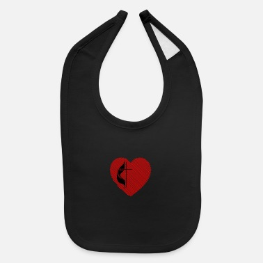 Methodist Cross Cross Your Heart - Baby Bib
