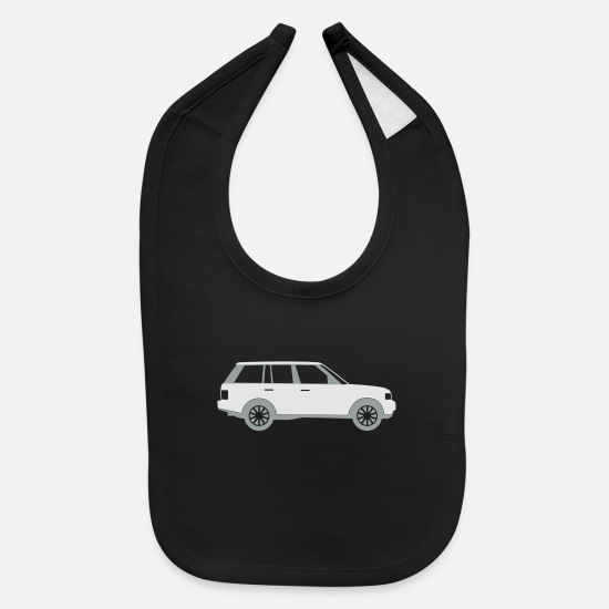 Symbol  Baby Clothing - Sports Utility Vehicle - Baby Bib black
