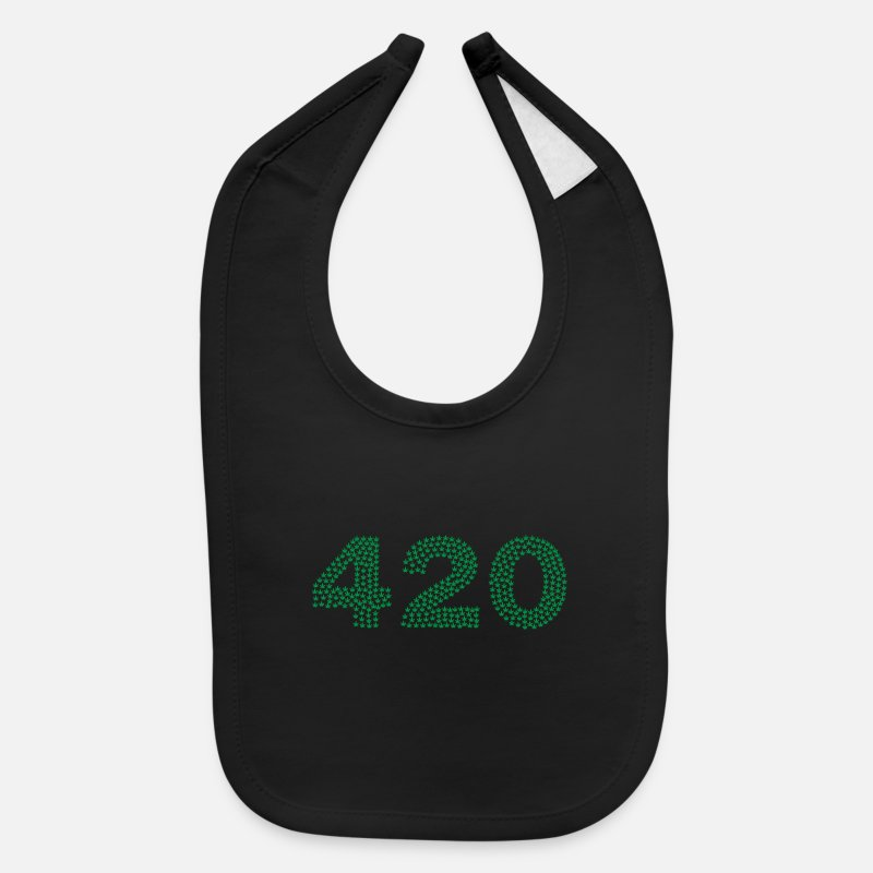 Stoner Baby Clothing - 420 stoner time - Baby Bib black