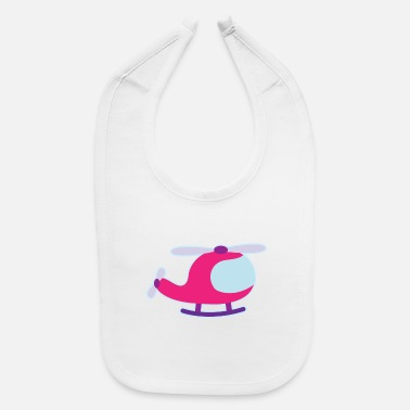 Cute Helicopter Helicopter Cute Girls - Baby Bib