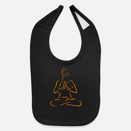 Meditation Baby Clothing - Yoga and Meditation - Baby Bib black