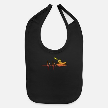 Rowing Kayak Heart Beat EKG Gift - Baby Bib