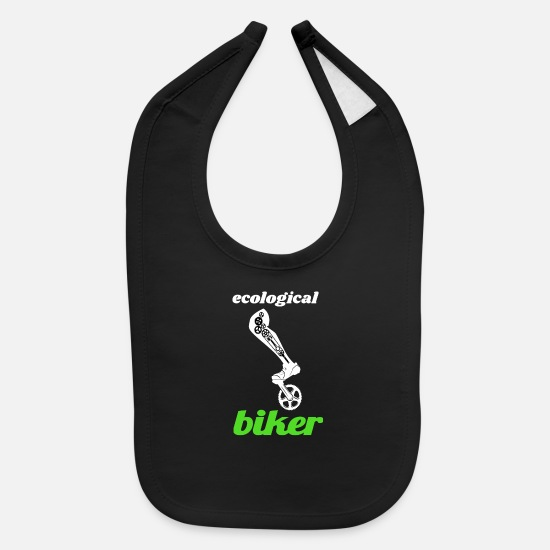 Bike Messenger Baby Clothing - ecologically cyclist - Baby Bib black