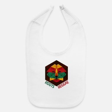 Reggae Roots, Jamaican Low Poly Roots Reggae Lion - Baby Bib
