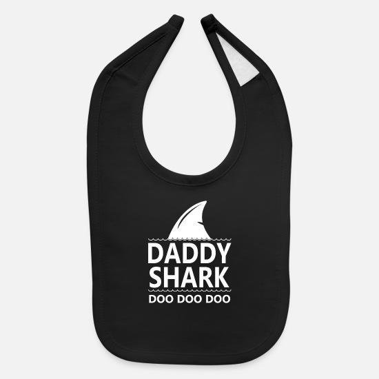 Daddy Shark Doo Doo Doo Cool Funny Gifts Dad Baby Bib