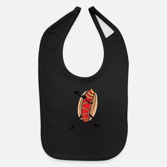 Dab Baby Clothing - Funny dabbing Hot Dog product - perfect gift - Baby Bib black