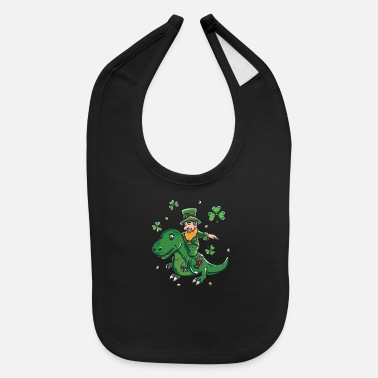 Shamrock Funny St Patricks day Leprechaun graphic - - Baby Bib