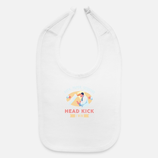 Grappling Baby Clothing - Karate & Taekwondo & Martial Arts Funny Gift - Baby Bib white