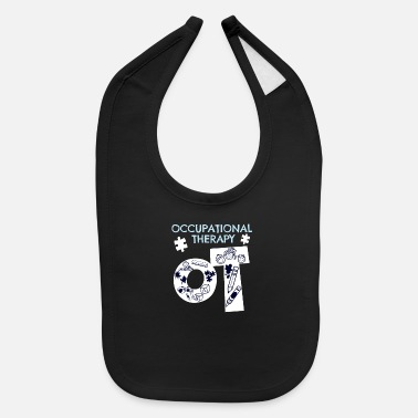 Occupation Awesome Occupational Therapist Print Occupational - Baby Bib