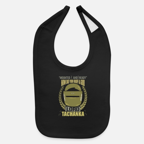 Rainbow Baby Clothing - Lord Tachanka - Baby Bib black