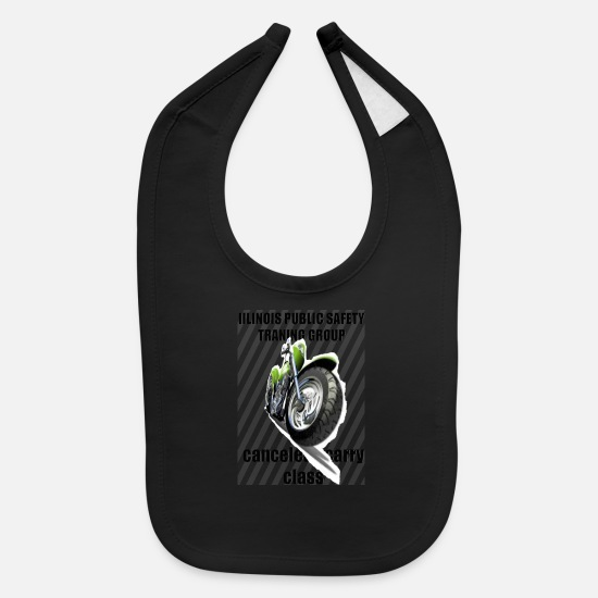 Group Baby Clothing - MOTO TEE SHIRT IILINOIS PUBLIC GROUP - Baby Bib black