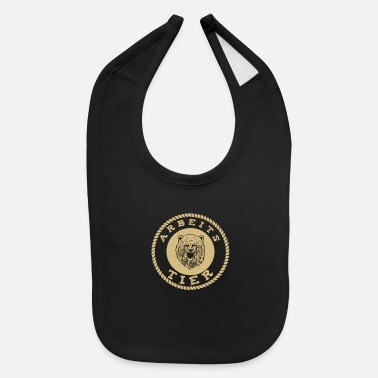Workhorse Working animal, works like a bear, gold - Baby Bib