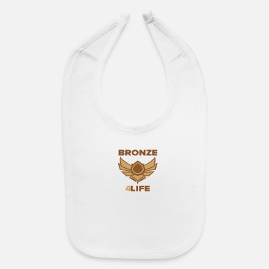 League Bronze 4 life - Baby Bib