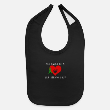 Heart Handprint on heart - Baby Bib