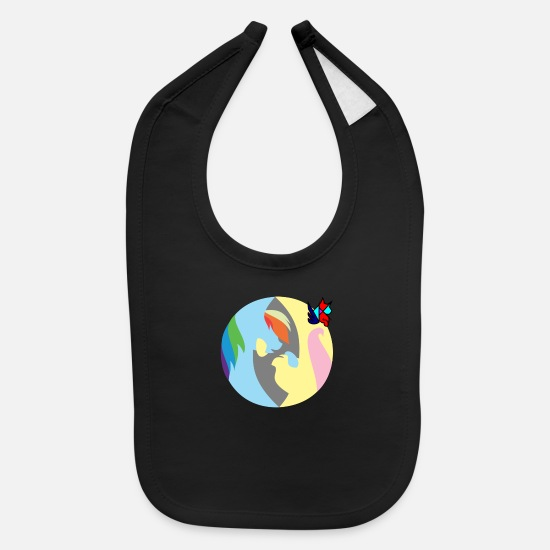 Bronies Baby Clothing - Flutter-Dash by Tori - Baby Bib black