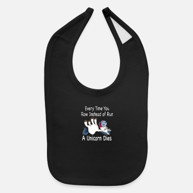Crossfit Row/Run Unicorn - Baby Bib