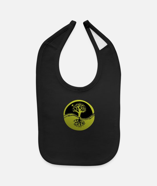 Nature Baby Bibs - Tree with Roots - Baby Bib black