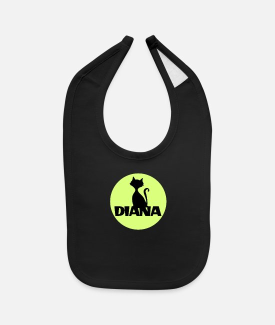 Love Baby Clothing - Diana first name - Baby Bib black