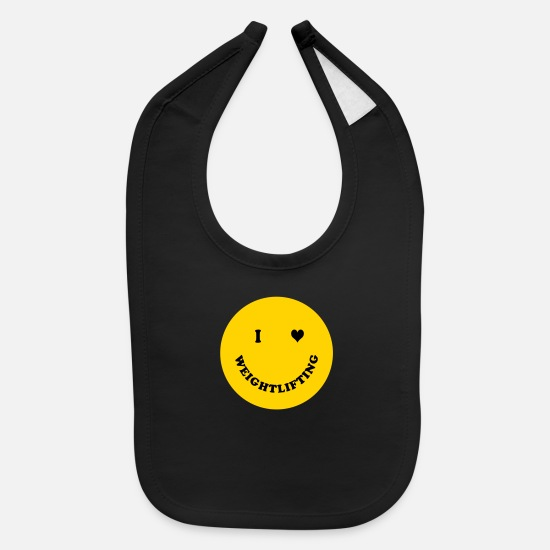 Lifting Baby Clothing - Weight lifting - Baby Bib black